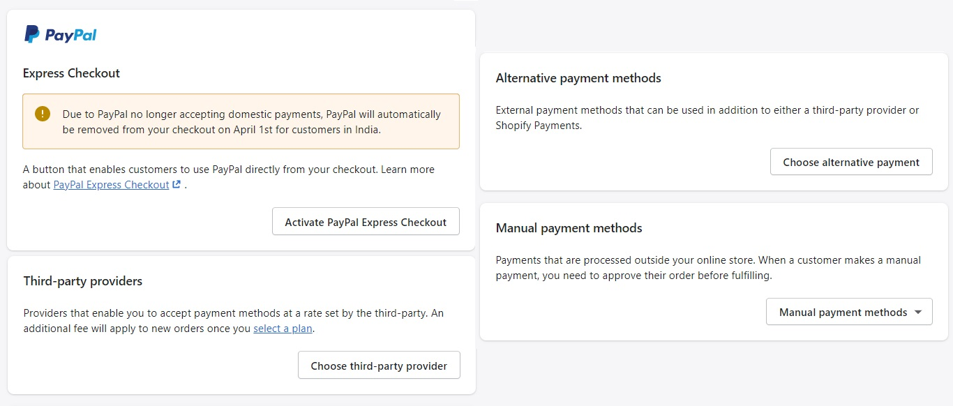 Put Together Payment Options